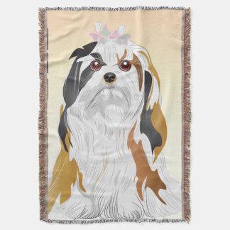 MI-KI Dog throw Blanket