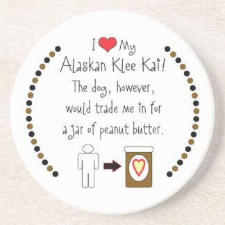 Mi Klee de Alaska Kai ama la mantequilla de cacahu Posavasos De Arenisca