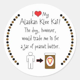 Mi Klee de Alaska Kai ama la mantequilla de Pegatina Redonda