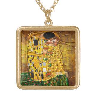 Mi Klimt Serie: Beso Collar Dorado