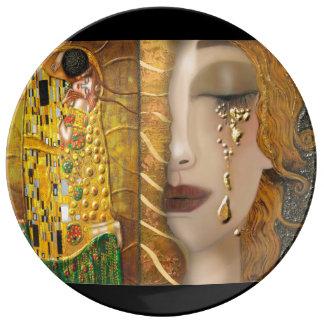 Mi Klimt Serie: Oro Plato De Cerámica
