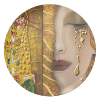 Mi Klimt Serie: Oro Platos Para Fiestas