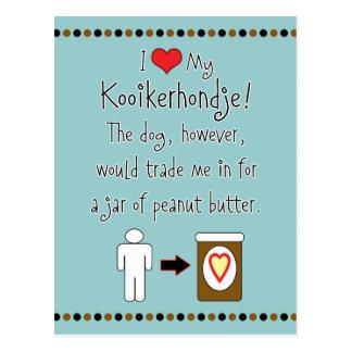 Mi Kooikerhondje ama la mantequilla de cacahuete Tarjetas Postales