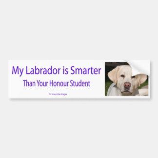 Mi Labrador es más elegante que su vago del estudi Etiqueta De Parachoque