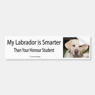Mi Labrador es más elegante que su vago del estudi Pegatina Para Auto