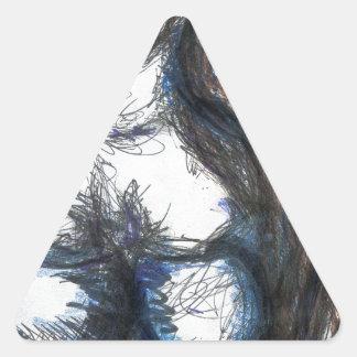 Mi Lady Belle Fleur Triangle Sticker
