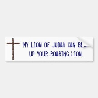 Mi león de Judah Pegatina Para Auto