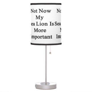 Mi león marino es más importante no ahora