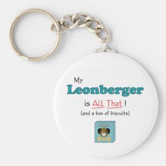 ¡Mi Leonberger es todo el eso! Llavero Personalizado