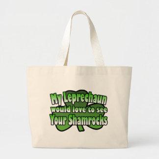 Mi Leprechaun amaría ver su bolso de los tréboles Bolsa Tela Grande