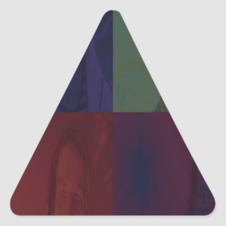 Mi leyenda del arco iris pegatina triangular
