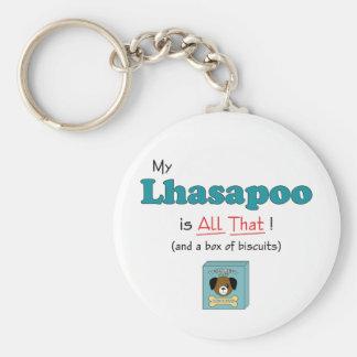 ¡Mi Lhasapoo es todo el eso! Llavero Personalizado