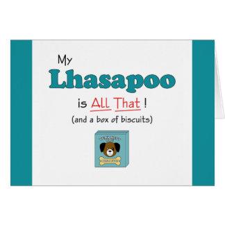 ¡Mi Lhasapoo es todo el eso! Felicitación