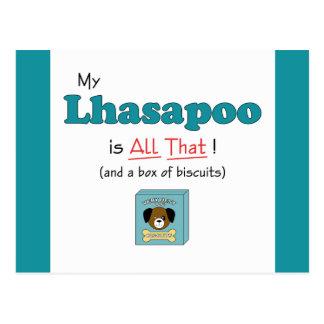 ¡Mi Lhasapoo es todo el eso Tarjeta Postal