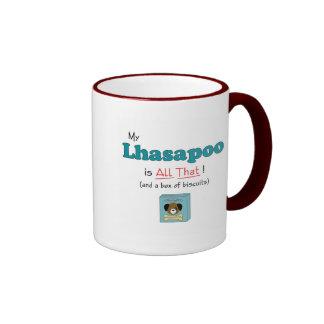 ¡Mi Lhasapoo es todo el eso! Taza De Café