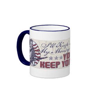 Mi libertad, mi dinero y mi engranaje de los armas taza de café