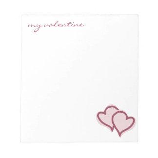 Mi libreta de la tarjeta del día de San Valentín Bloc De Notas