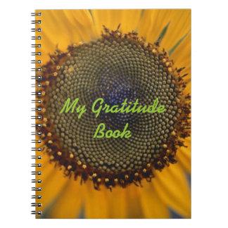 Mi libro de la gratitud con el girasol libreta espiral