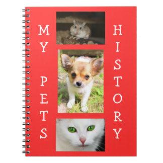 Mi libro de registro de historia de los mascotas libros de apuntes