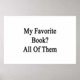 Mi libro preferido todos póster