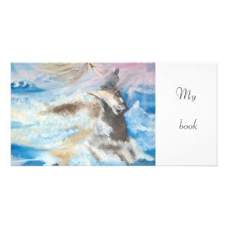 mi libro - señal tarjeta personal con foto