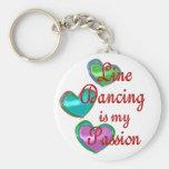 Mi línea pasión del baile llavero personalizado
