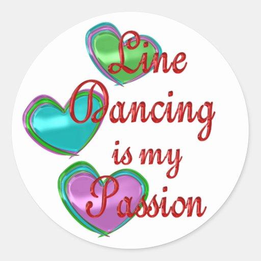 Mi línea pasión del baile pegatina redonda