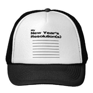 Mi lista de las resoluciones del Año Nuevo Gorra