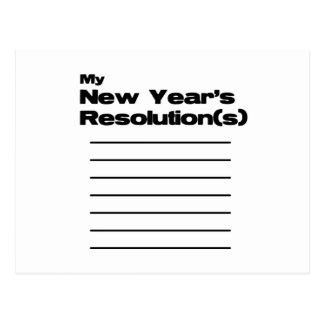 Mi lista de las resoluciones del Año Nuevo Tarjetas Postales