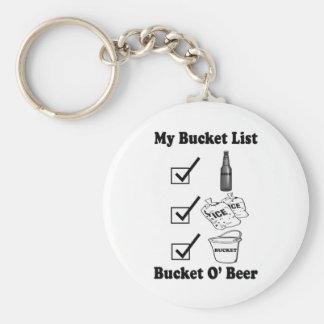 Mi lista del cubo - cerveza de O del cubo Llavero Redondo Tipo Pin
