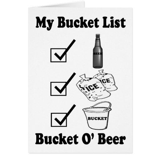 Mi lista del cubo - cerveza de O del cubo Felicitacion