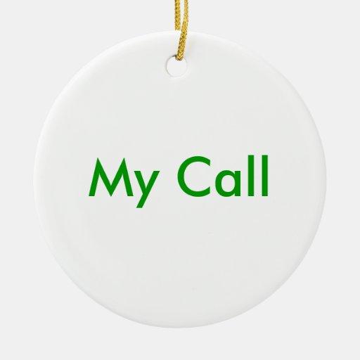 Mi llamada adorno redondo de cerámica
