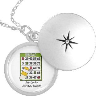 Mi Locket afortunado del bingo Medallón