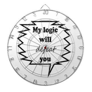 Mi lógica le derrotará tablero dardos