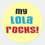Mi Lola oscila las camisetas y los regalos Etiqueta Redonda