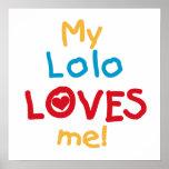 Mi Lolo me ama las camisetas y los regalos Impresiones