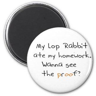 Mi lop el conejo comió mi preparación. ¿Quiera ver Imanes