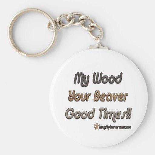 Mi madera sus buenos tiempos del castor llaveros