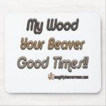 Mi madera sus buenos tiempos del castor alfombrillas de ratones