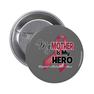 Mi madre es mi héroe - mieloma múltiple pin redondo de 2 pulgadas