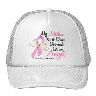 Mi madre es un cáncer de pecho del ángel 2 gorras de camionero