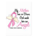 Mi madre es un cáncer de pecho del ángel 2 postal