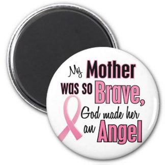 Mi madre es un cáncer de pecho del ángel imán redondo 5 cm
