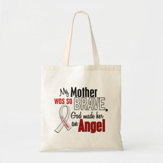 Mi madre es un cáncer de pulmón del ángel bolsas lienzo