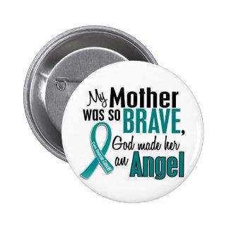 Mi madre es un cáncer ovárico del ángel 1 pin redondo 5 cm