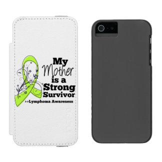 Mi madre es un superviviente fuerte del linfoma funda billetera para iPhone 5 watson