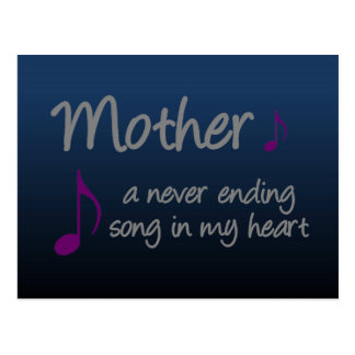Mi madre es una canción interminable en mi corazón postal
