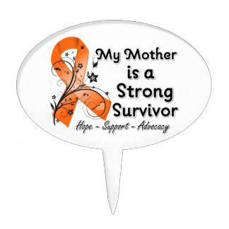 Mi madre es una cinta fuerte del naranja del super figuras de tarta