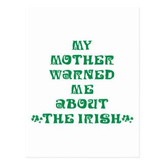 Mi madre me advirtió sobre el irlandés postal