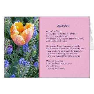 Mi madre tarjeta de felicitación